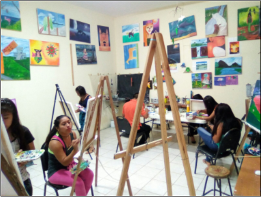 Taller de pintura para jóvenes